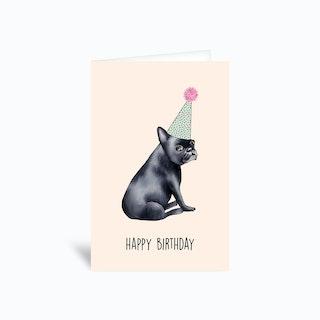 Frenchie Birthday Greetings Card