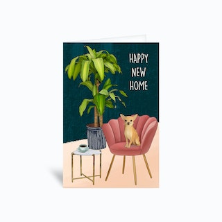 Happy New Home Chihuahua Greetings Card