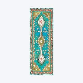 Traditional Magic Carpet Yoga Mat - Turquoise