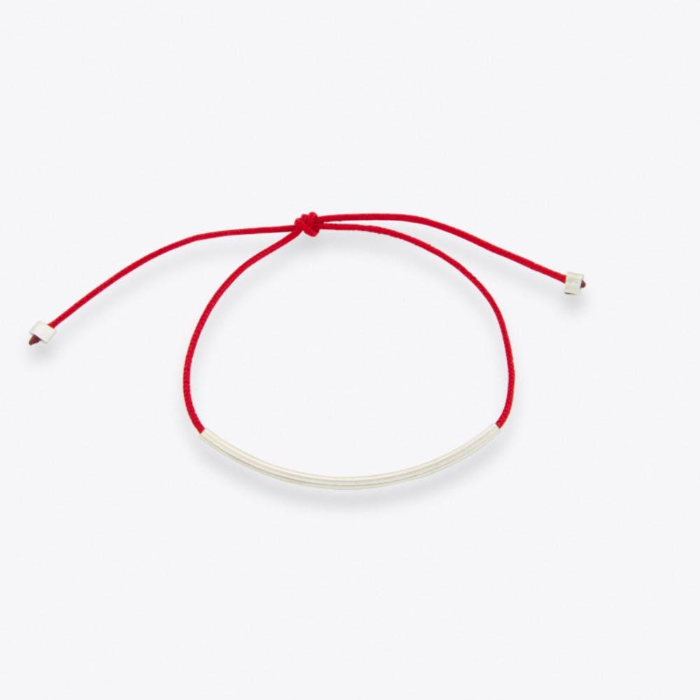 Basic Bracelet in Red & Silver