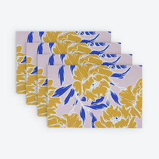 Printed Vinyl Placemat - Blossom - Set of 4