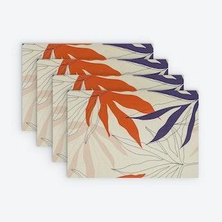 Printed Vinyl Placemat - Flora - Set of 4