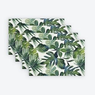 Printed Vinyl Placemat - Botanical - Set of 4