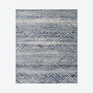 Westfield Theodora Rug - Silver / Teal / Green
