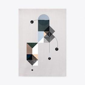 Falling Circles - Blue Print A3