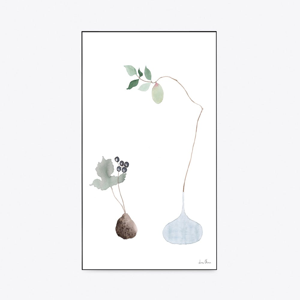 Blue Ikebana Print A3