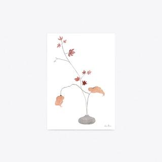 Maple Ikebana Art Print A4