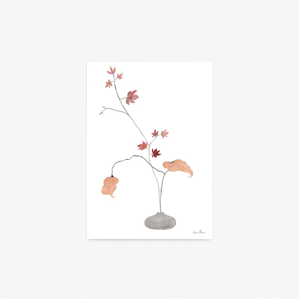 Maple Ikebana Print A4