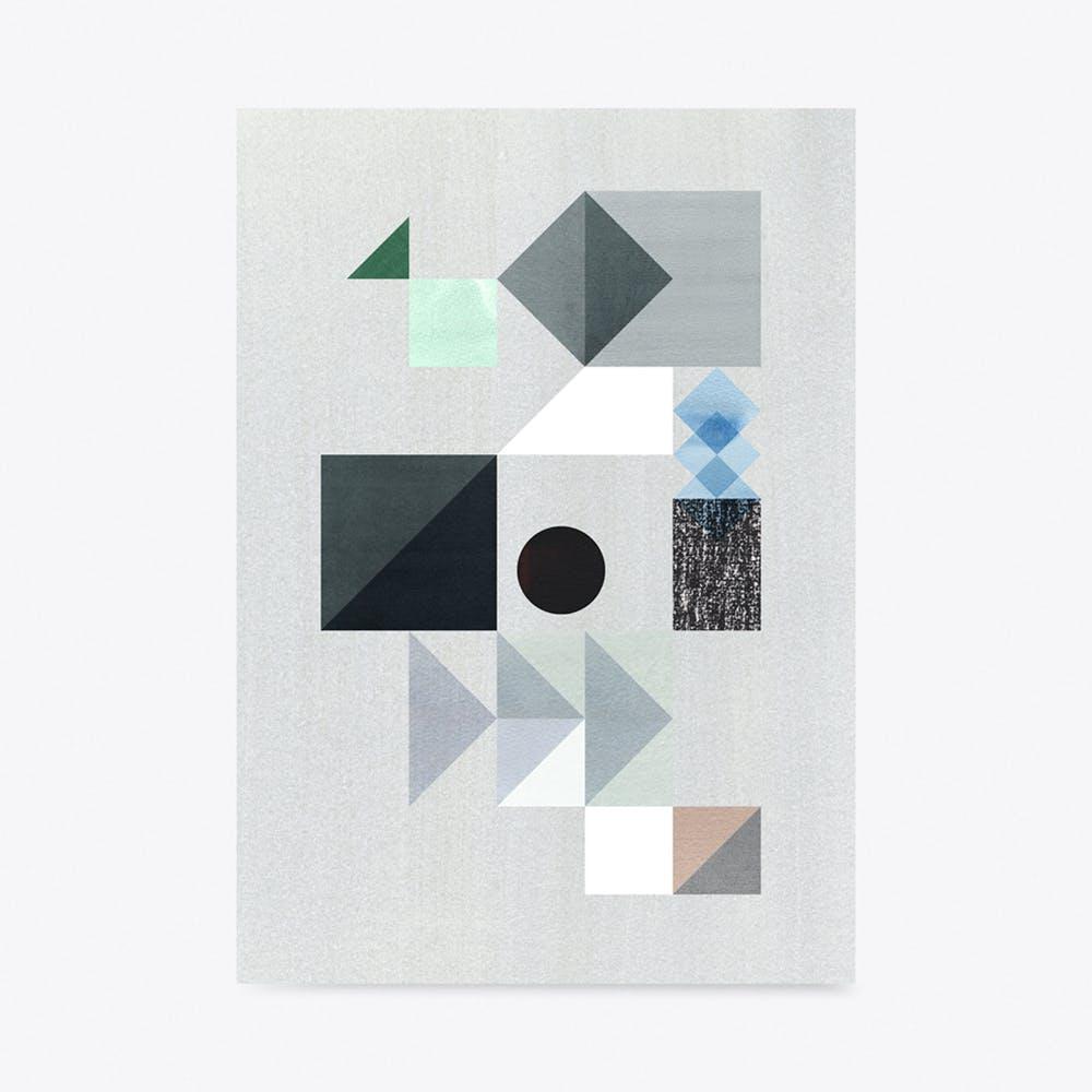 Grey Storm Print A3