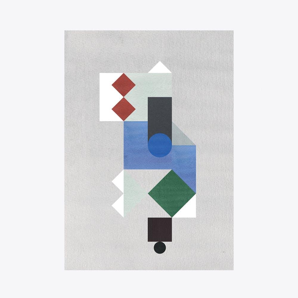 Mint Composition Print A3