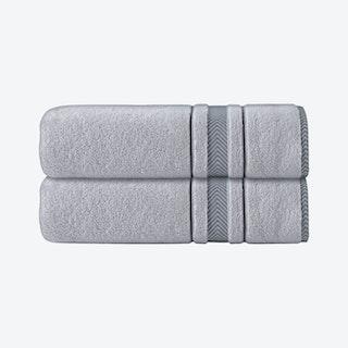 Enchasoft Turkish Bath Sheets - Silver - Set of 2