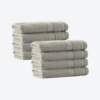Monroe Turkish Hand Towels - Beige - Set of 8