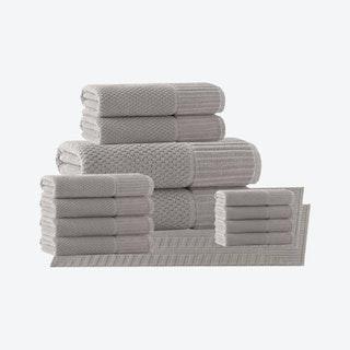 Timaru Turkish Towels - Sand - Set of 16