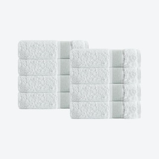 Unique Turkish Hand Towels - Green - Set of 8