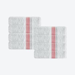 Unique Turkish Washcloths - Salmon - Set of 8