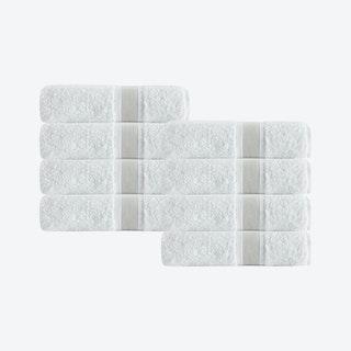Unique Turkish Hand Towels - Beige - Set of 8