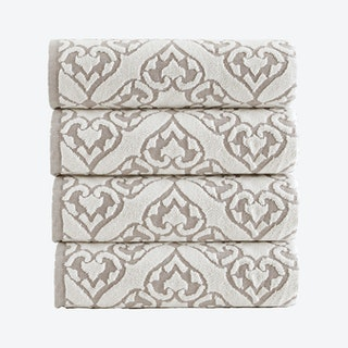 Gonzales Turkish Bath Towels - Beige - Set of 4