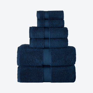 Bomonti Turkish Towels - Navy - Set of 6