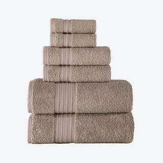 Luna Turkish Towels - Beige - Set of 6