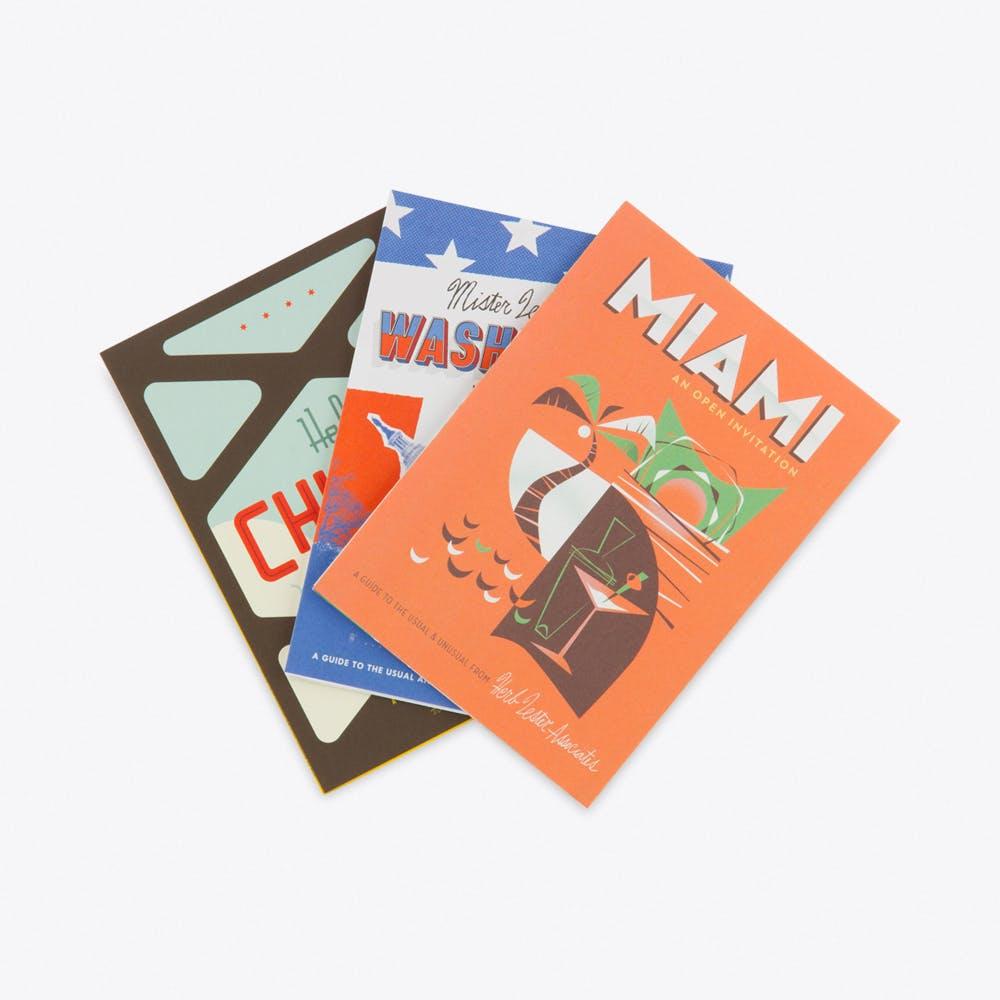 Americana, Set of 3 Fold Out Maps