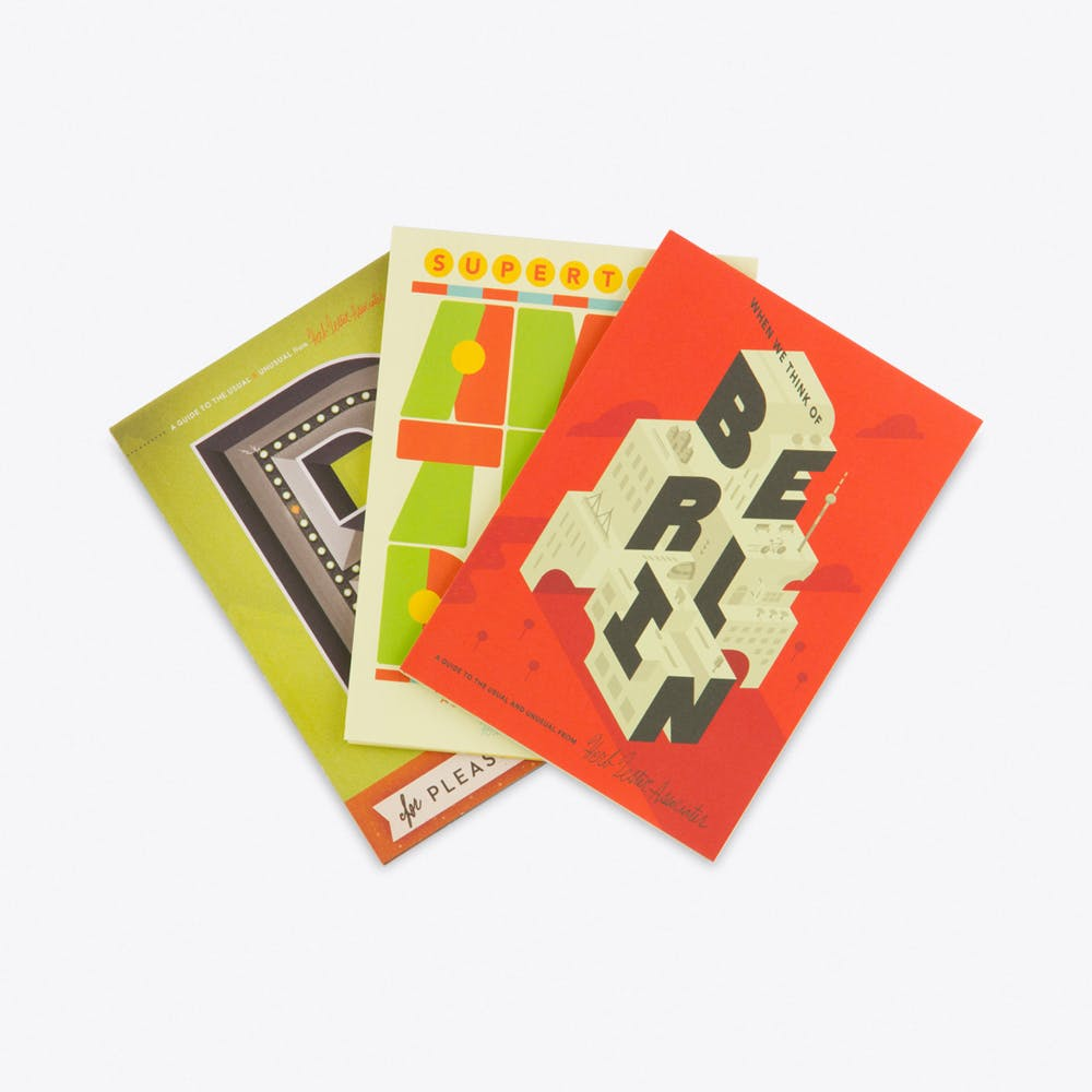 Interrail, Set of 3 Fold Out Maps