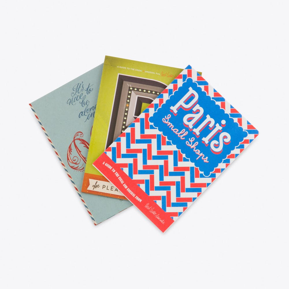 We'll Always Have Paris, Set of 3 Fold Out Maps