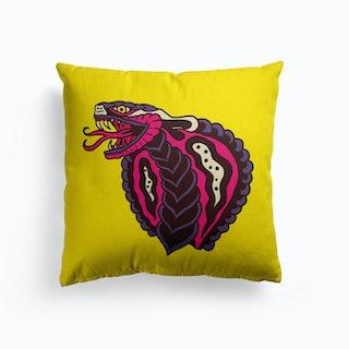 Cobra Canvas Cushion