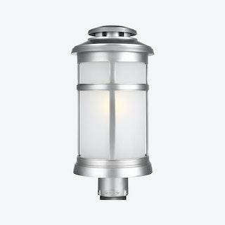 Newport Post Lantern - Painted Brushed Steel