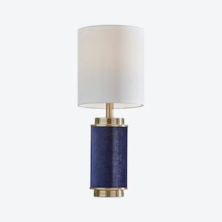 Marsha Table Lamp - Antique Brass - Navy Blue
