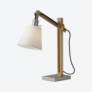 Walden Table Lamp - Natural Rubber Wood