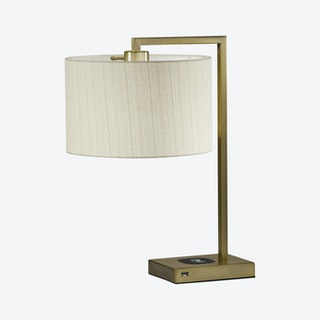 Austin AdessoCharge Table Lamp - Antique Brass