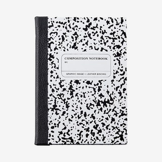 Marble Notebook - White / Black