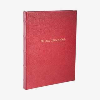 Tabbed Wine Journal - Garnet - Leather