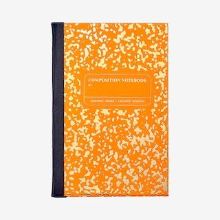 Marble Notebook - Orange