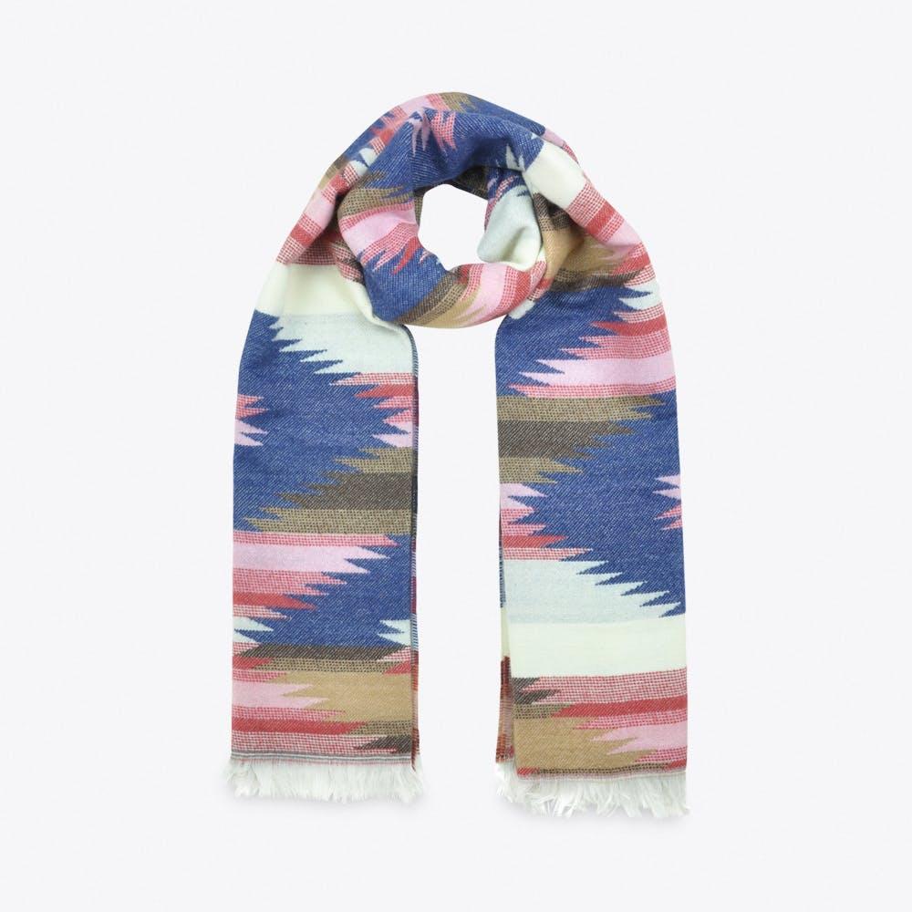 Weave Pattern Scarf in Blue