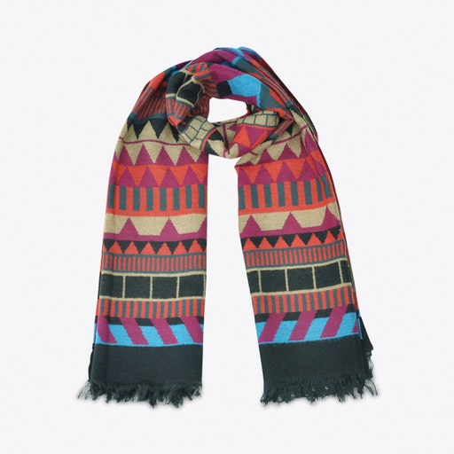 Geometric Scarf in Multicolor