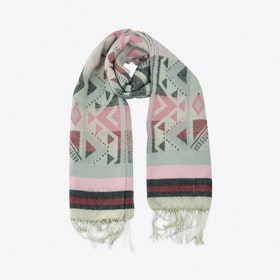 Geometric Scarf in Pink & Grey