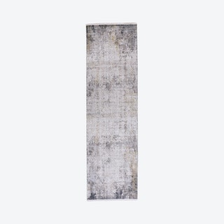 Cadiz Lustrous Gradient Runner Rug - Light Grey / Ivory