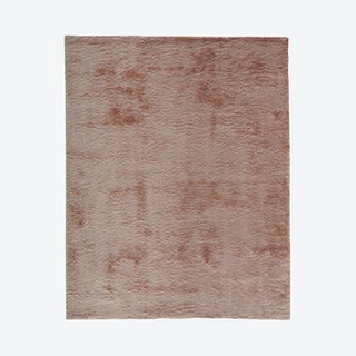 Indochine Plush Metallic Sheen Area Rug - Salmon Pink