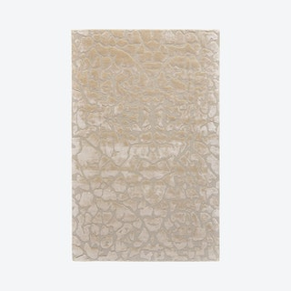 Mali Lustrous Tufted Abstract Area Rug - Ivory Cream
