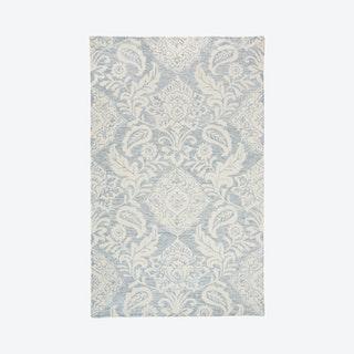 Belfort Modern Minimalist Trellis Area Rug - Blue / Ivory