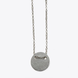 Delicate Circle Necklace in Silver