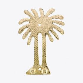 Palm Tree Brass Hanger Hooks