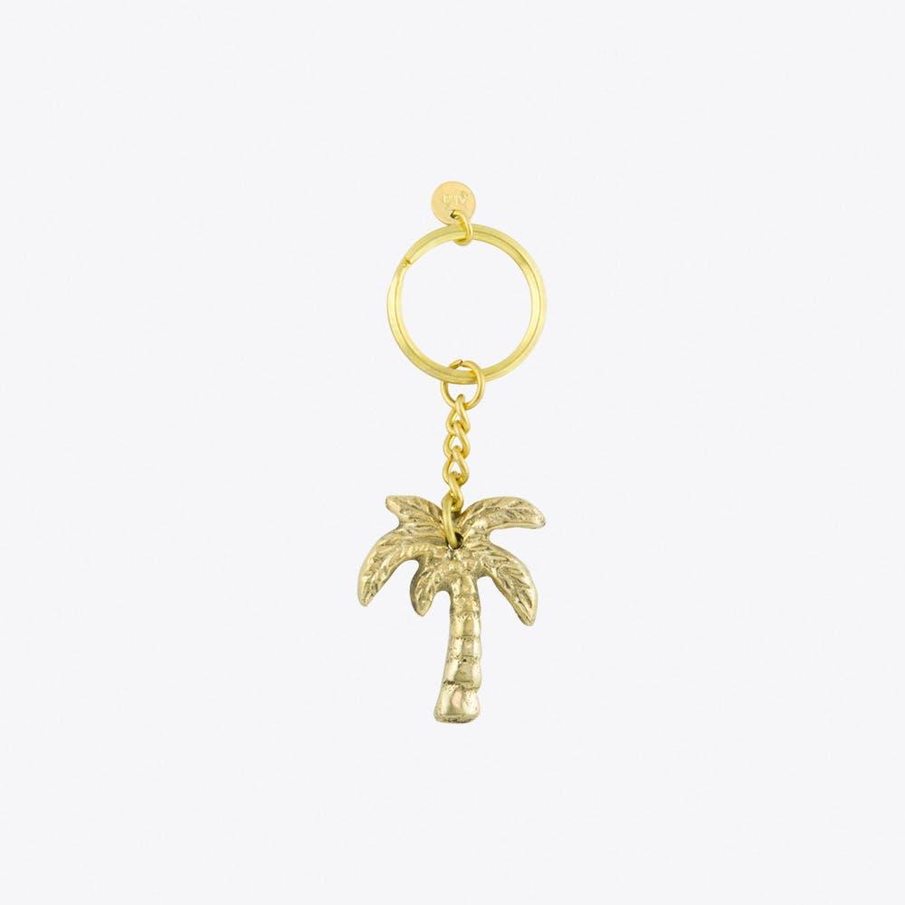 Palmtree Brass Keychain