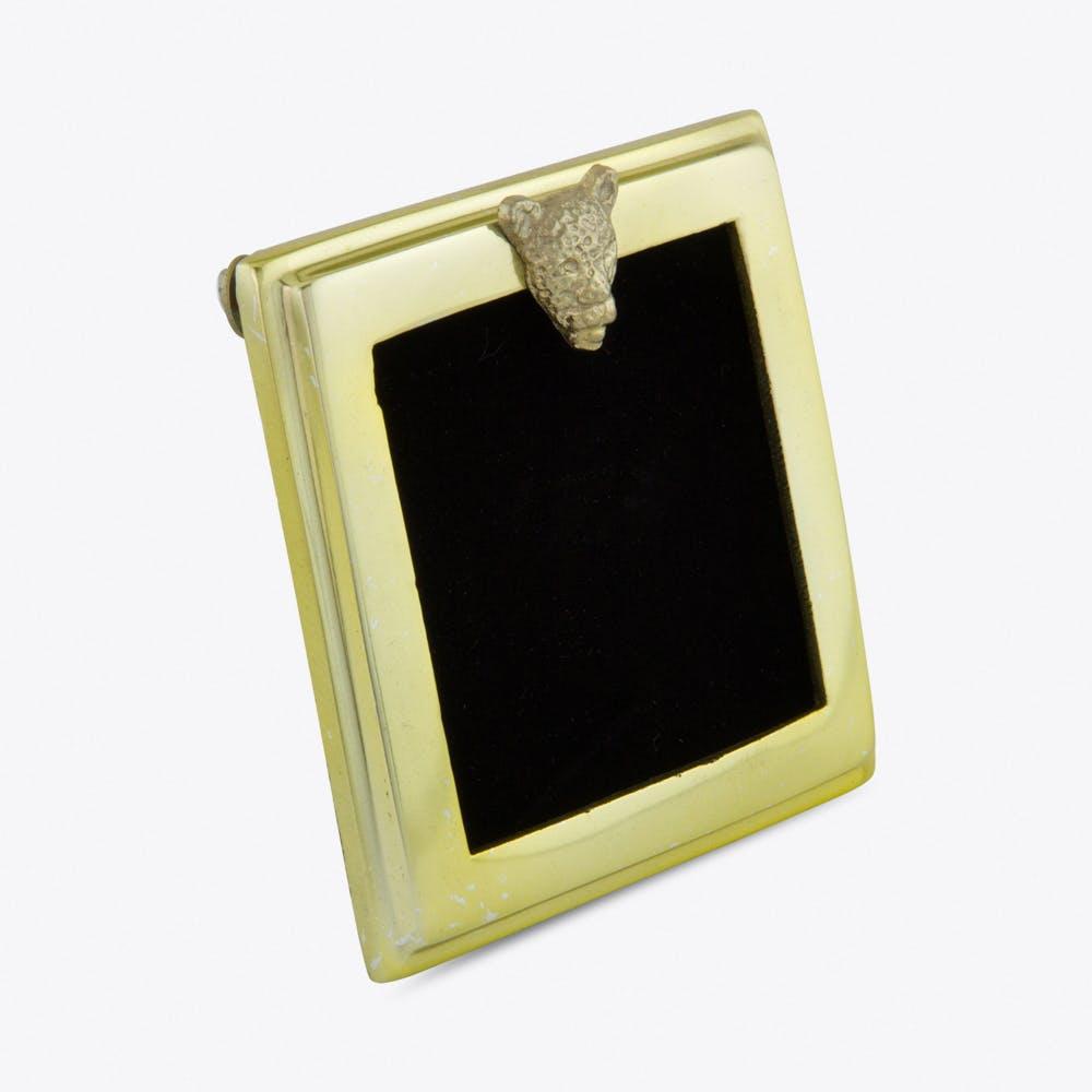 Small Brass Leopard Photo Frame