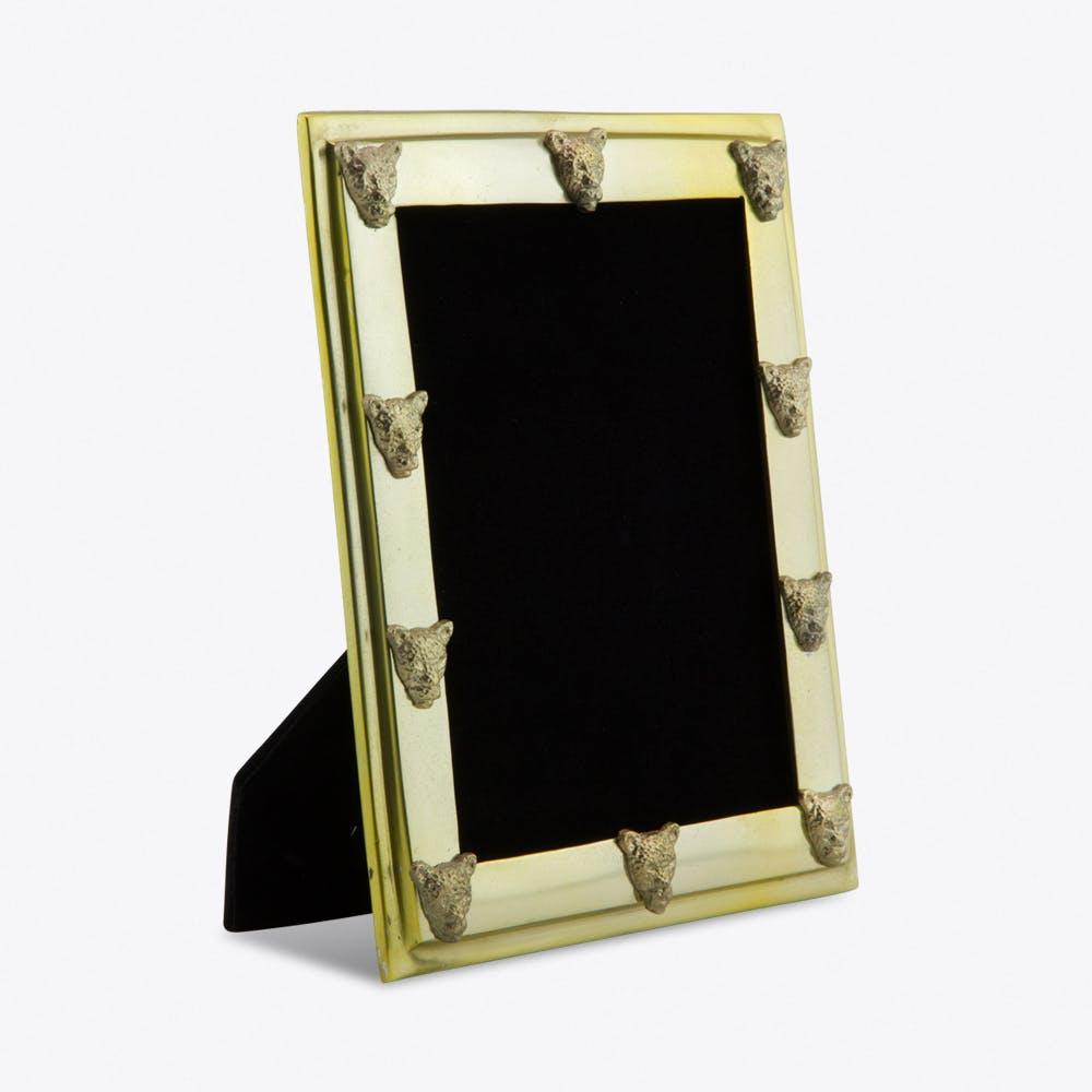 Large Brass Leopard Photo Frame