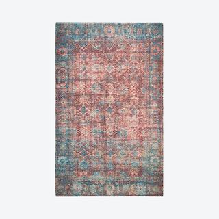 Guru Handmade Area Rug - Red / Blue