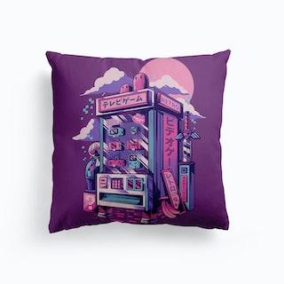 Retro Gaming Machine Canvas Cushion