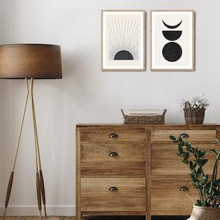 Sun & Moon Print Set by The Printable Studio