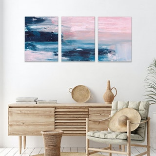 Abstract Triple Canvas by Dan Hobday
